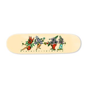 "PASS~PORT Floral Friends 8.25"" Skateboard Deck - Vanilla"