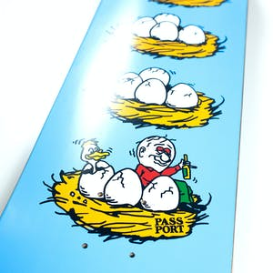 PASS~PORT What U Thought Skateboard Deck - Eggs
