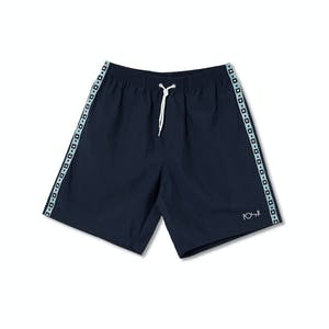 Polar Square Stripe City Swim Shorts - Navy