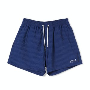 Polar Seersucker Swim Shorts - Blue