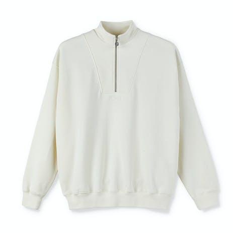 Polar Zipneck Sweatshirt - Ivory