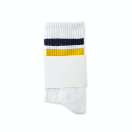Polar Stripe Socks - White/Navy/Yellow