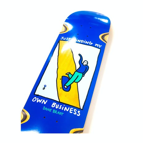 "Polar Brady Minding My Own Business 8.25"" Skateboard Deck - Blue"