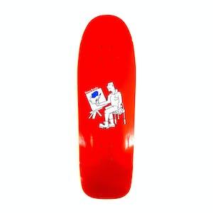 "Polar Brady Painter 9.75"" Skateboard Deck - Dane1 Shape/Red"