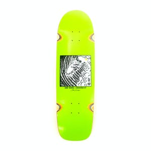 "Polar Sanbongi Freedom 9.0"" Skateboard Deck - Surf Sr. Shape/Lime"