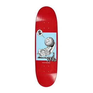 "Polar Oski Profit Football Shape 8.75"" Skateboard Deck - Red"