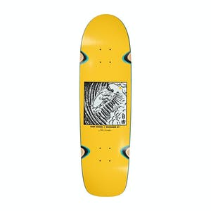"Polar Sanbongi Freedom 8.75"" Skateboard Deck - Surf Shape/Yellow"