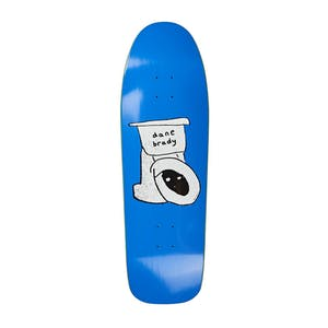 "Polar Brady Toilet 9.75"" Skateboard Deck - Blue (D1 Shape)"