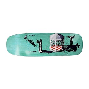 Polar Grund Rituals 1990 Shape Skateboard Deck - Teal Green