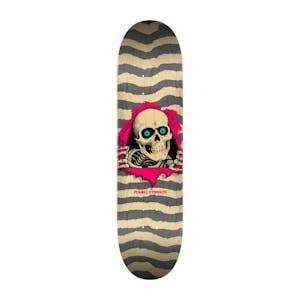 "Powell-Peralta Ripper 8.25"" Skateboard Deck - Natural/Grey"