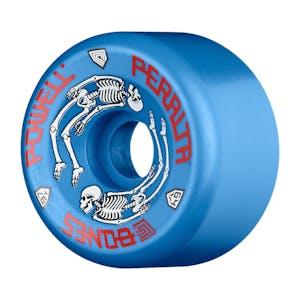 Powell-Peralta G Bones 64mm Skateboard Wheels - Blue