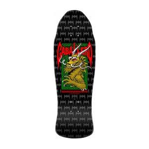 "Powell-Peralta Caballero Street Dragon 9.6"" Skateboard Deck - Black / Silver"