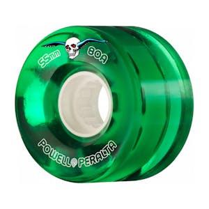 Powell-Peralta Clear Cruiser Skateboard Wheels - Green