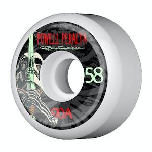 Powell-Peralta Rodriguez Skull And Sword 58mm Skateboard Wheels - White