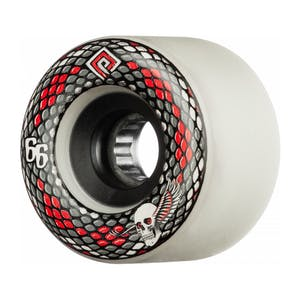 Powell-Peralta SSF Snakes 66mm Skateboard Wheels - White