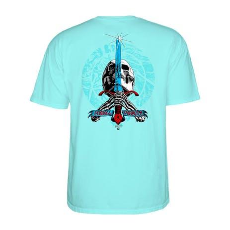 Powell-Peralta Triple P Skull & Sword T-Shirt - Celadon