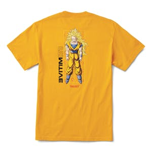 Primitive x Dragon Ball Z Goku Glow T-Shirt - Gold