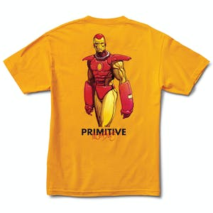 Primitive x Moebius Iron Man T-Shirt - Gold
