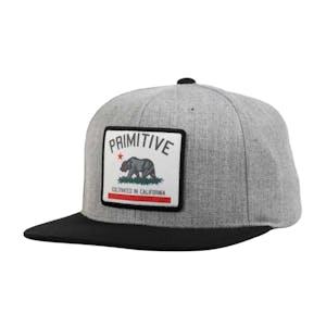 Primitive Cultivated Patch Snapback Hat - Black/Grey Heather