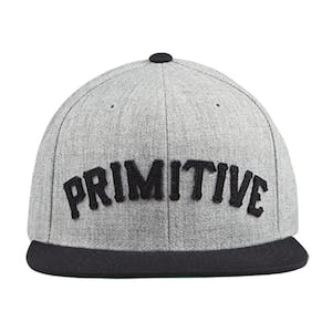 Primitive Slab Type Snapback Hat - Heather Grey