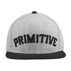 Primitive Slab Type Snapback Hat - Heather Grey