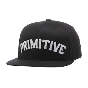 Primitive Slab Type Snapback Hat - Black