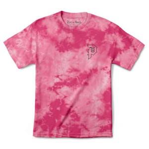Primitive x Rick & Morty Outline T-Shirt - Tie Dye Pink