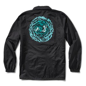 Primitive x Rick & Morty Portal Coaches Jacket - Black