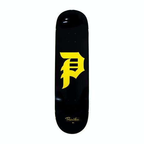 "Primitive Dirty P 8.5"" Skateboard Deck - Black"