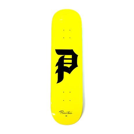 Primitive Dirty P Skateboard Deck - Yellow
