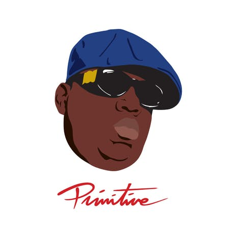 Primitive Biggie Shades T-Shirt - White
