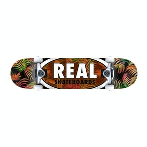 "Real Oval Tropics 7.75"" Complete Skateboard - Earth"