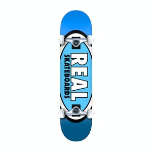"""Real Team Edition Oval 8.0"""" Complete Skateboard - Blue"""