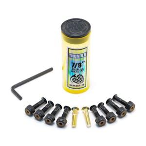 """Thunder 7/8"""" Allen Skateboard Hardware - Black/Gold"""