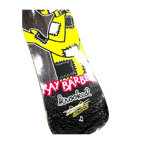 """Krooked Barbee Redux 9.5"""" Skateboard Deck - Street Shape"""