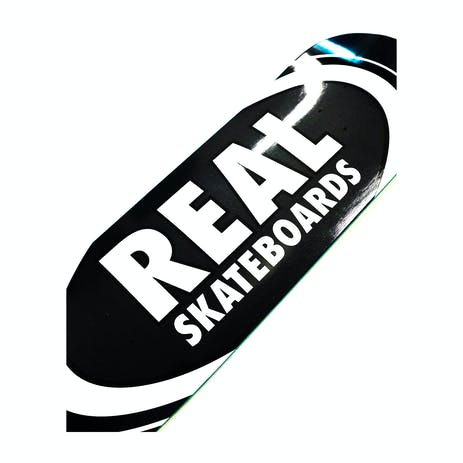 "Real Classic Oval 8.25"" Skateboard Deck - Black"