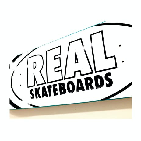 """Real Classic Oval 8.38"""" Skateboard Deck - White"""