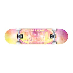 "Real Oval Watercolour 7.3"" Mini Complete Skateboard"