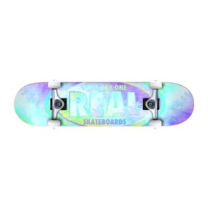 "Real Oval Watercolour 7.75"" Mini Complete Skateboard"