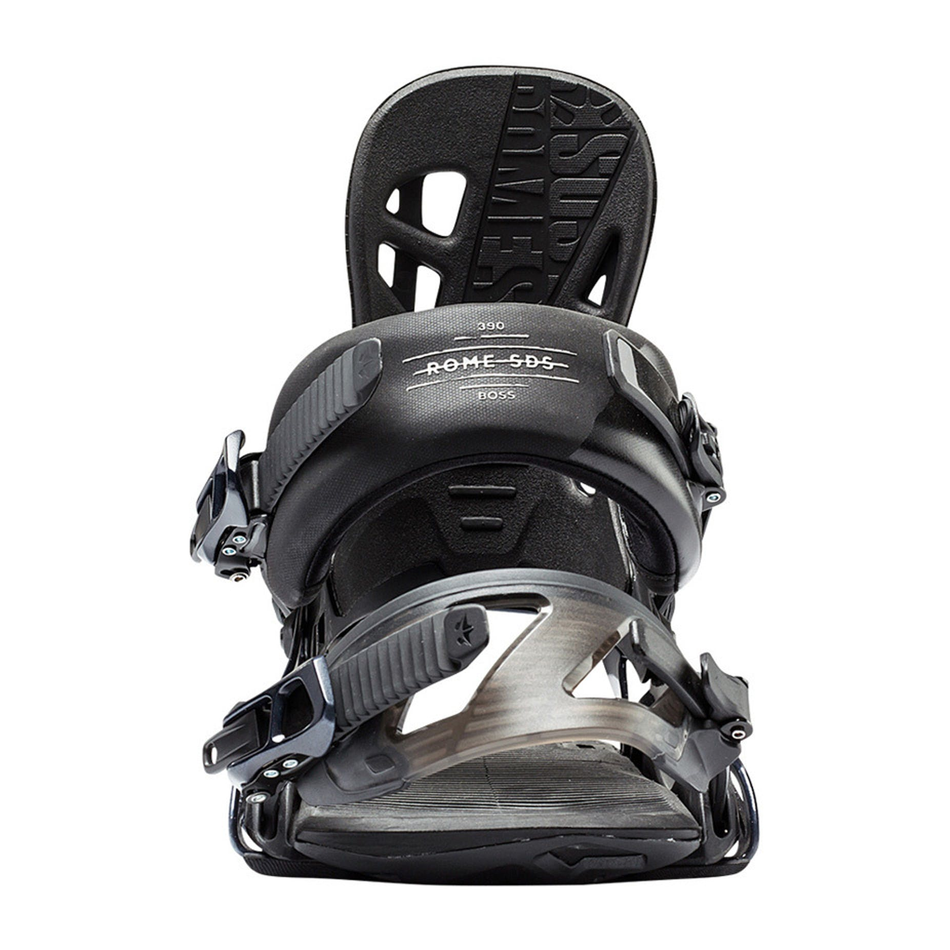 Rome 390 Boss Snowboard Bindings 2017 - Black