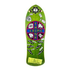"Santa Monica Airlines Think Crime 10"" Skateboard Deck - Reissue (Green)"