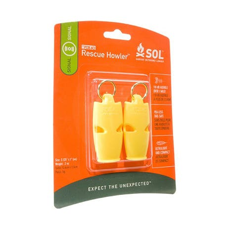 SOL Rescue Howler Whistle — 2-Pack