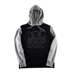 Sandbox Team Stacked Hoodie — Black/Grey
