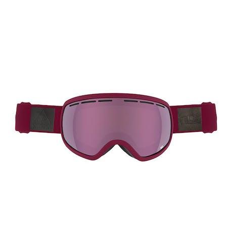 Sandbox The Boss Snowboard Goggle 2018 - Burgundy / Pink + Bonus Lens