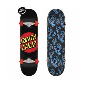 "Santa Cruz Classic Dot 7.25"" Complete Skateboard"