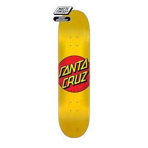 "Santa Cruz Classic Dot 7.75"" Skateboard Deck - Yellow"
