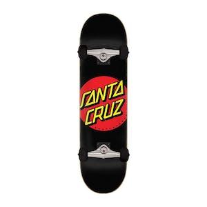 """Santa Cruz Classic Dot 8.0"""" Complete Skateboard - Black"""