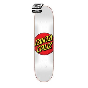 "Santa Cruz Classic Dot 8.0"" Skateboard Deck - White"