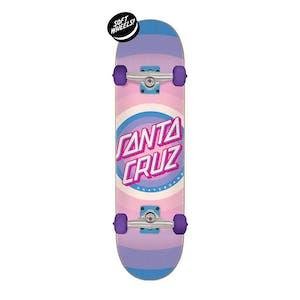 "Santa Cruz Gleam Dot 7.75"" Complete Skateboard"