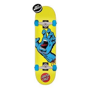 "Santa Cruz Screaming Hand 7.75"" Complete Skateboard - Yellow"